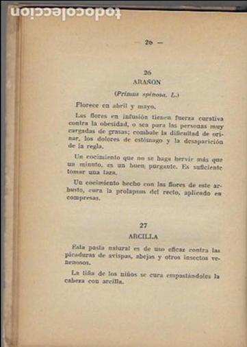 Libros antiguos: Remedios caseros. Todos a base de hierbas / M. Romeu Guimerá. BCN, 1935. Tapa dura. 17x12cm. 128 p. - Foto 3 - 128363751