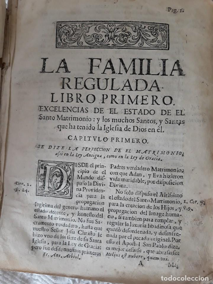 Libros antiguos: A. ARBIOL: LA FAMILIA REGULADA. - Foto 2 - 128363827