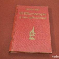 Libros antiguos: EL MICROSCOPIO Y SUS APLICACIONES - HAGER MEZ - AÑO 1922 - TG3. Lote 128422479