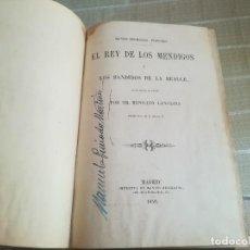 Libros antiguos: EL REY DE LOS MENDIGOS O LOS BANDIDOS DE LA BEAUCE. MR HIPOLITO LANGLOIS. 1859. Lote 128422531
