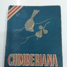 Libros antiguos: CHIMBERIANA ESTAMPAS LIRICAS SOBRE MOTIVOS POPULARES VASCOS ATHLETIC DE BILBAO PELOTA MANO TRAINERAS. Lote 128614318