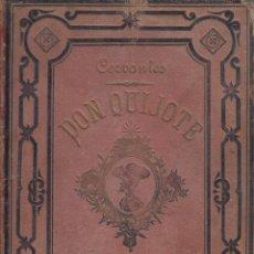 Libros antiguos: DON QUIJOTE DE LA MANCHA CERVANTES ILUSTRADO RAMON PUIGGARÍ BARCELONA1880 BIBLIOTECA SALVADOR RIBAS. Lote 128615287