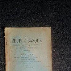 Libros antiguos: EUSKERA. HISTORIA DEL PUEBLO VASCO: LENGUA, ORIGEN, SUS TRADICIONES, ETC. INCHAUSPE. Lote 128688039