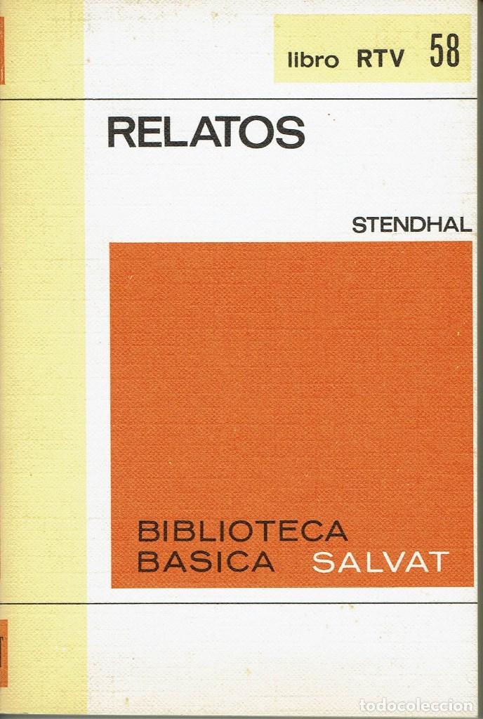 RELATOS, POR STENDHAL. AÑO 1970. (10.5) (Libros Antiguos, Raros y Curiosos - Historia - Otros)