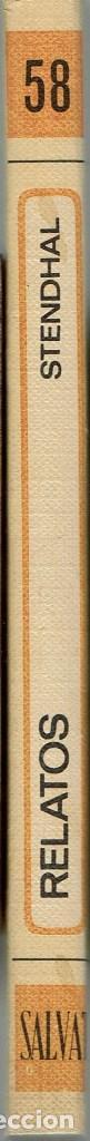 Libros antiguos: RELATOS, POR STENDHAL. AÑO 1970. (10.5) - Foto 3 - 128790631