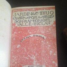 Libros antiguos: JARDIN HUMBRIO-VALLE INCLAN-1920. Lote 128816775