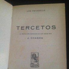 Libros antiguos: TERCETOS-LUIS PIRANDELLO. Lote 128817099