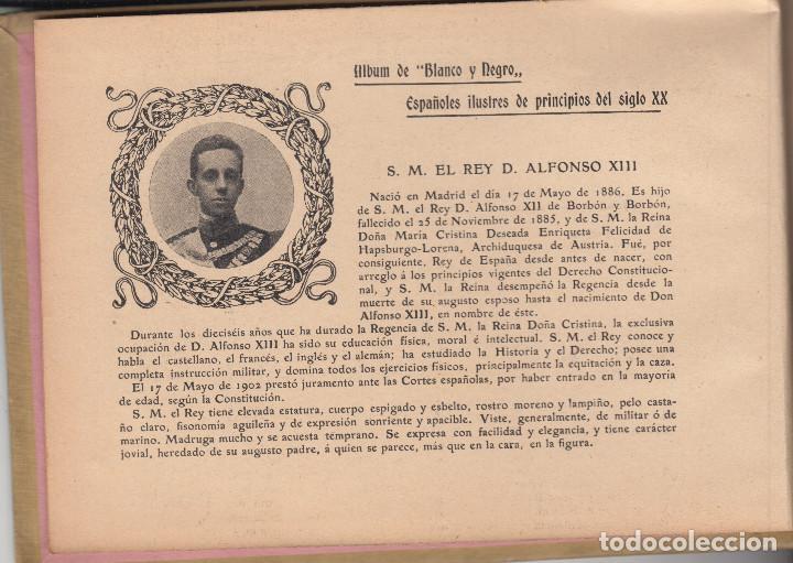 Libros antiguos: ALBUM DE ESPAÑOLES ILUSTRES DE PRINCIPIOS DEL SIGLO XX BLANCO Y NEGRO 1903 A 1904 - Foto 2 - 128870519
