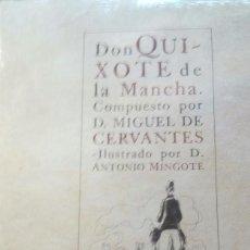 Libros antiguos: DON QUIXOTE DE LA MANCHA ILUSTRADO POR ANTONIO MINGOTE 10 LIBROS COMPLETOS. Lote 129090271