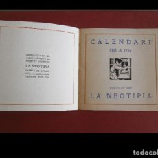 Libros antiguos: CALENDARI PER A 1916. PUBLICAT PER LA NEOTIPIA. Lote 173191787