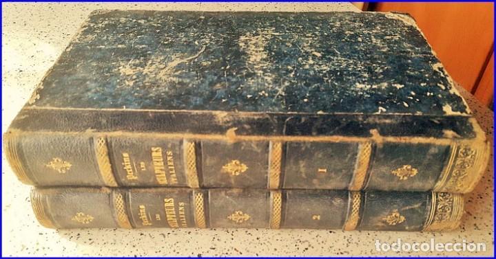 AÑO 1869: LOS ESCULTORES ITALIANOS. 2 ELEGANTES TOMOS DEL SIGLO XIX (Libros Antiguos, Raros y Curiosos - Bellas artes, ocio y coleccionismo - Otros)