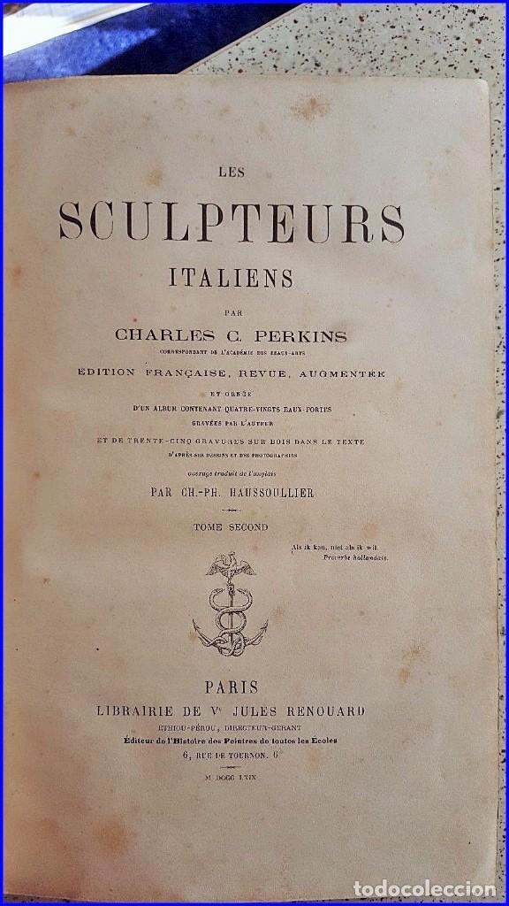 Libros antiguos: AÑO 1869: LOS ESCULTORES ITALIANOS. 2 ELEGANTES TOMOS DEL SIGLO XIX - Foto 3 - 129132691