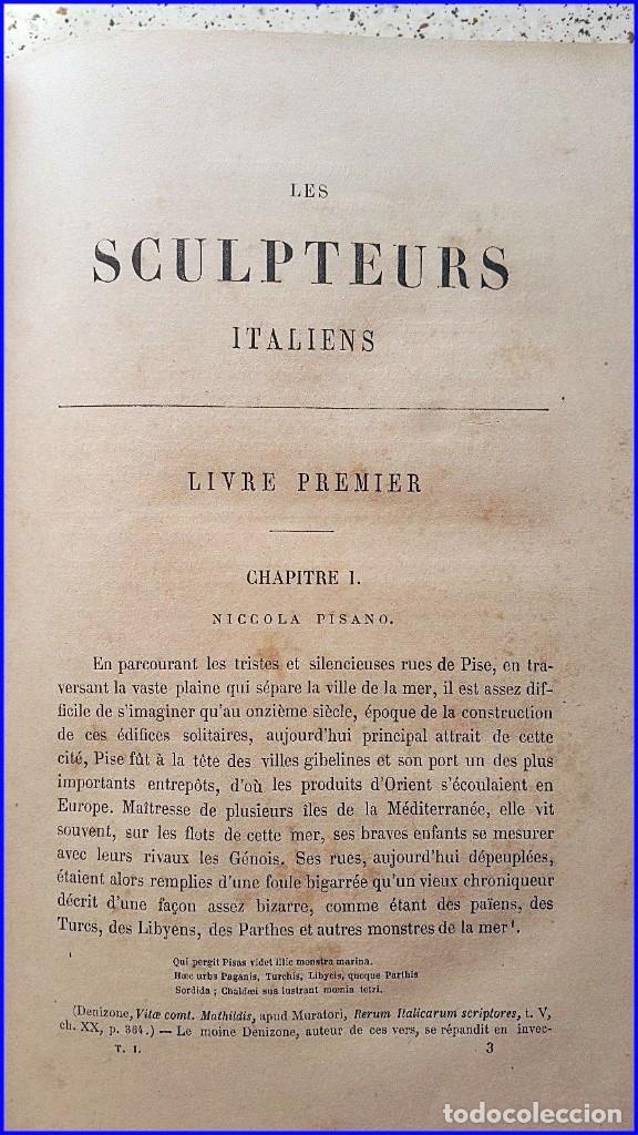 Libros antiguos: AÑO 1869: LOS ESCULTORES ITALIANOS. 2 ELEGANTES TOMOS DEL SIGLO XIX - Foto 5 - 129132691