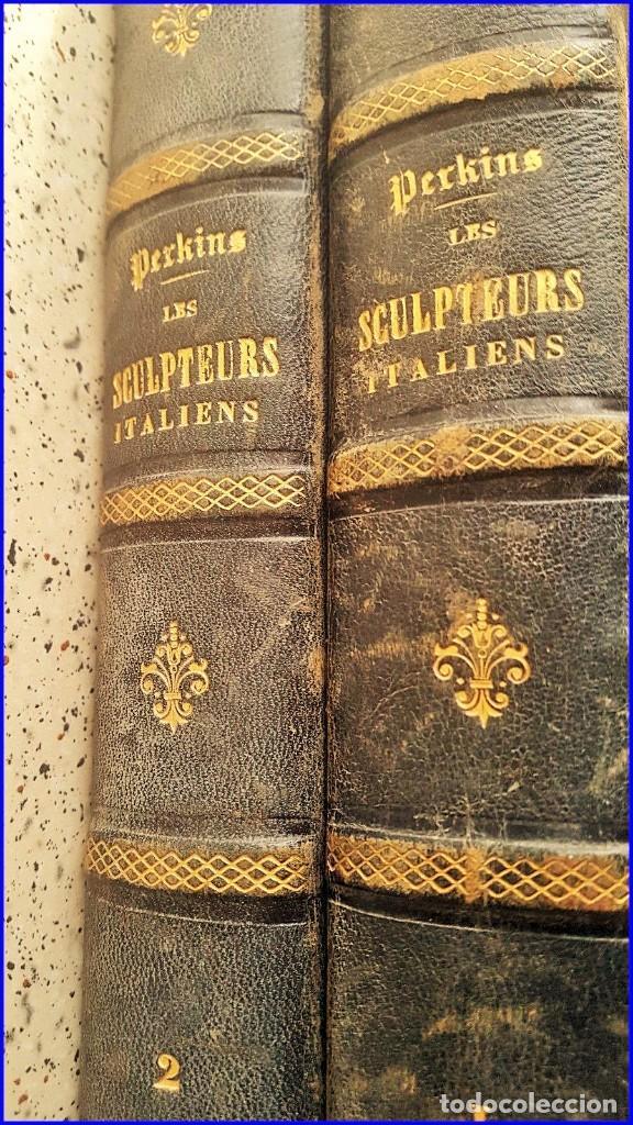 Libros antiguos: AÑO 1869: LOS ESCULTORES ITALIANOS. 2 ELEGANTES TOMOS DEL SIGLO XIX - Foto 9 - 129132691