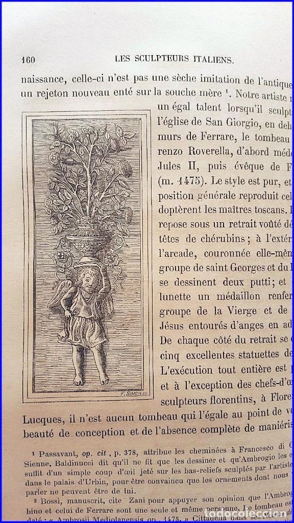 Libros antiguos: AÑO 1869: LOS ESCULTORES ITALIANOS. 2 ELEGANTES TOMOS DEL SIGLO XIX - Foto 10 - 129132691