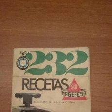 Livros antigos: 232 RECETAS MAGEFESA . Lote 129250783
