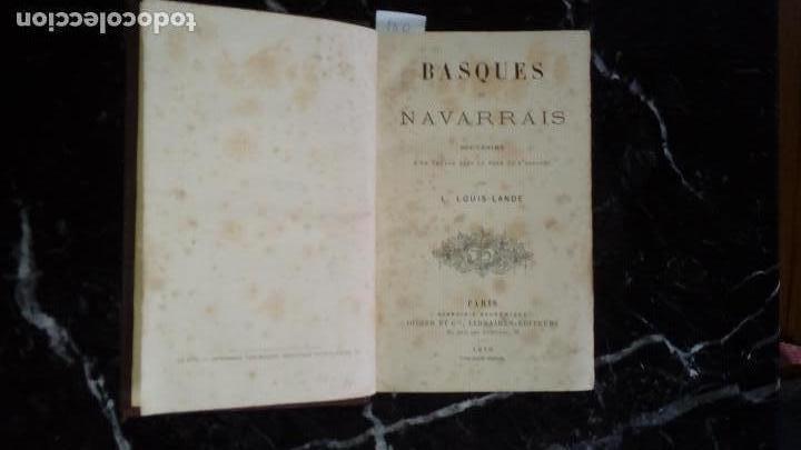 Libros antiguos: Historia vasca. Vascos y Navarros. - Foto 2 - 129312463