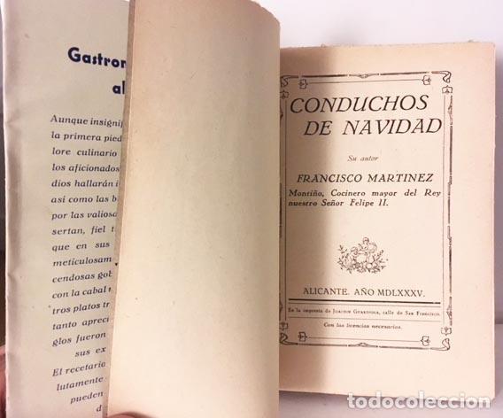 Libros antiguos: Guardiola : Gastronomía alicantina. 1944. (Conduchos de Navidad + Gastronomía... Alicante - Foto 2 - 129484203