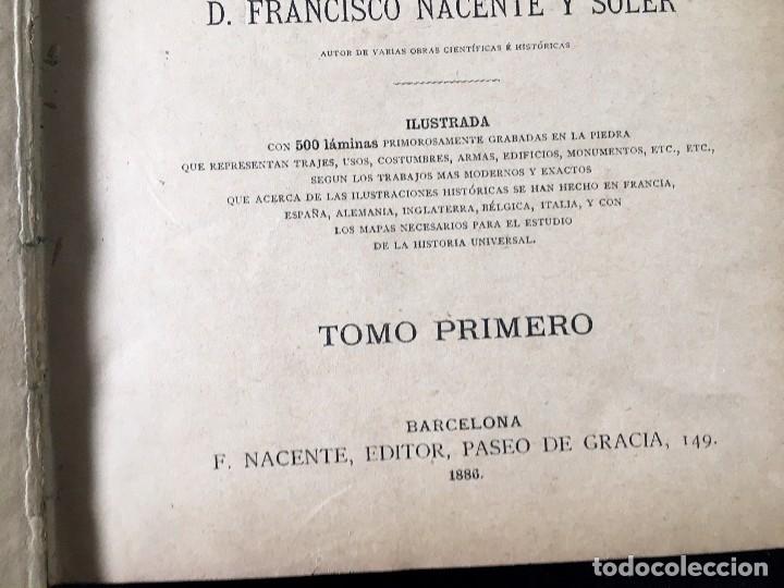 Libros antiguos: HISTORIA UNIVERSAL CESAR CANTÚ, 1886 11 TOMOS - Foto 8 - 129484411