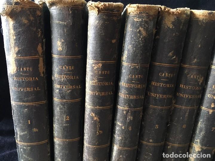 Libros antiguos: HISTORIA UNIVERSAL CESAR CANTÚ, 1886 11 TOMOS - Foto 2 - 129484411