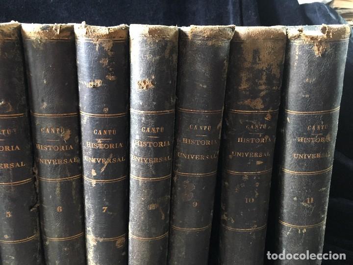 Libros antiguos: HISTORIA UNIVERSAL CESAR CANTÚ, 1886 11 TOMOS - Foto 3 - 129484411