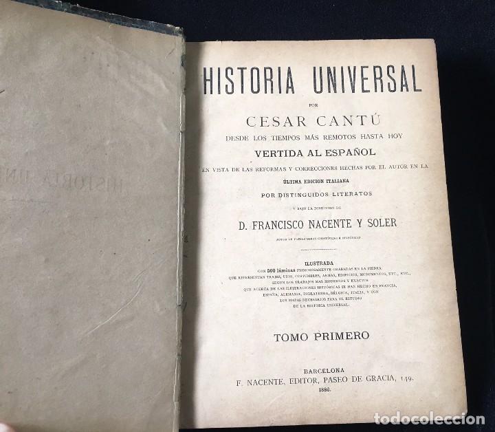 Libros antiguos: HISTORIA UNIVERSAL CESAR CANTÚ, 1886 11 TOMOS - Foto 7 - 129484411