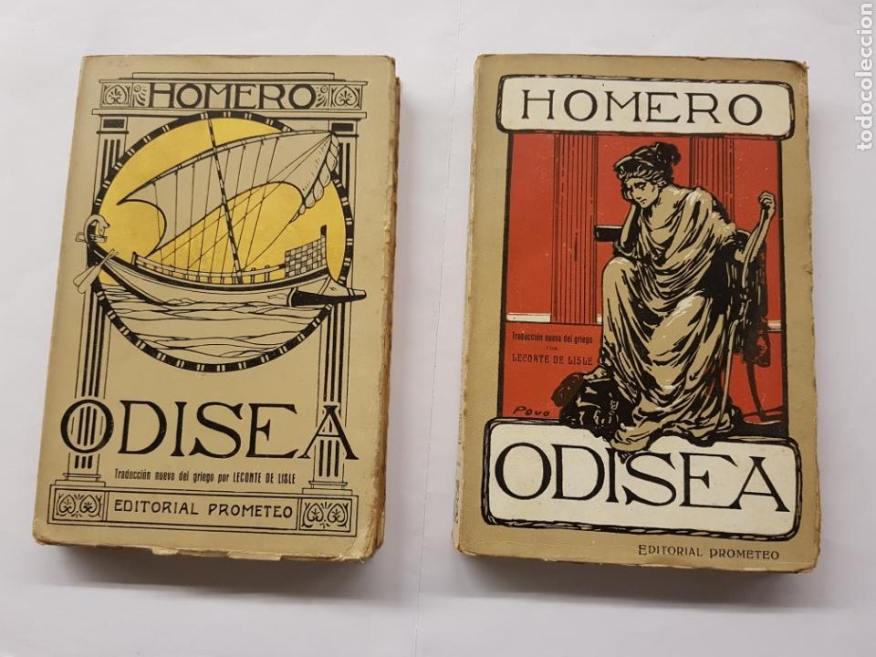 ODISEA - HOMERO - DOS TOMOS - EDITORIAL PROMETEO (Libros Antiguos, Raros y Curiosos - Pensamiento - Otros)