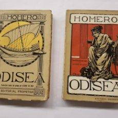 Libros antiguos: ODISEA - HOMERO - DOS TOMOS - EDITORIAL PROMETEO. Lote 129500719