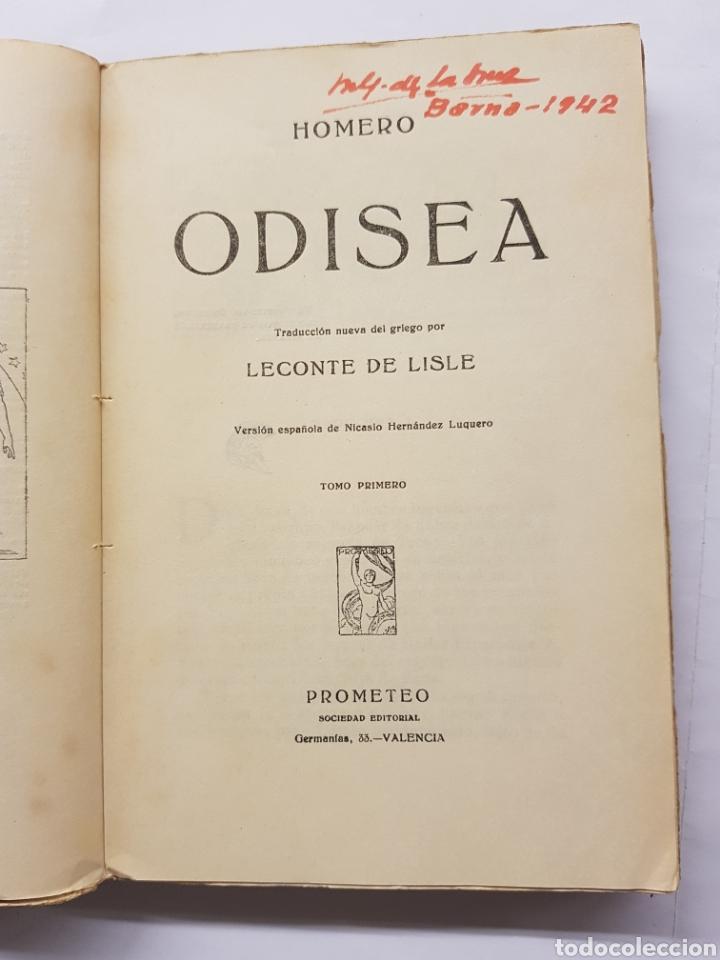 Libros antiguos: Odisea - Homero - Dos tomos - Editorial Prometeo - Foto 3 - 129500719