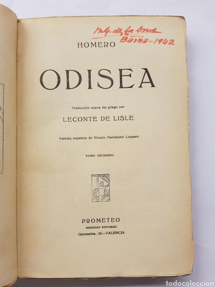 Libros antiguos: Odisea - Homero - Dos tomos - Editorial Prometeo - Foto 4 - 129500719