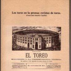 Libros antiguos: LOS TOROS EN LA PRENSA; REVISTA DE TOROS. Lote 129509155