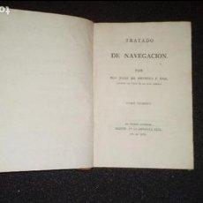 Libros antiguos: MARINA. NAVEGACIÓN. MENDOZA Y RIOS. TRATADO DE NAVEGACIÓN.. Lote 129556807