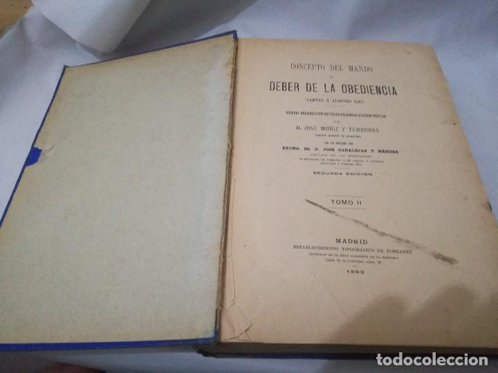 Libros antiguos: CARTAS A ALFONSOO XIII-TOMO II-JOSE MUÑIZ Y TERRONES-SEGUNDA EDICION 1893 - Foto 3 - 129582847