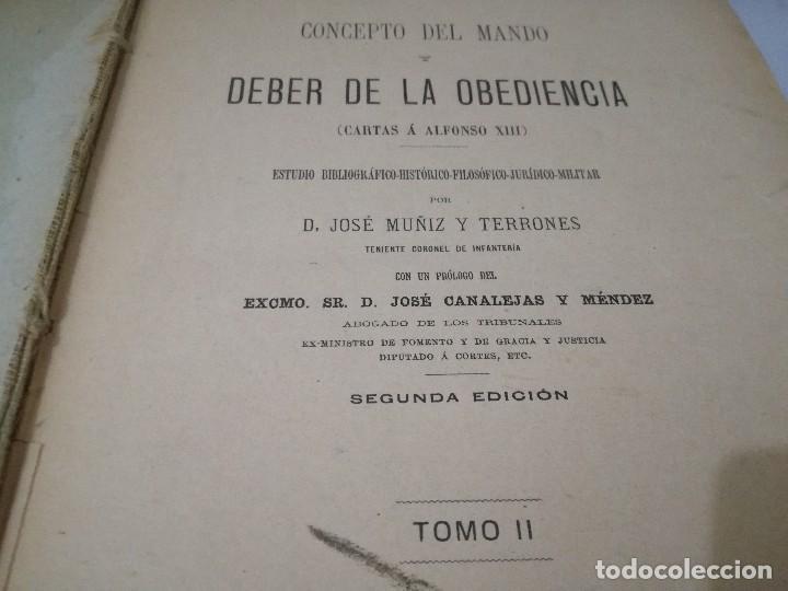 Libros antiguos: CARTAS A ALFONSOO XIII-TOMO II-JOSE MUÑIZ Y TERRONES-SEGUNDA EDICION 1893 - Foto 5 - 129582847