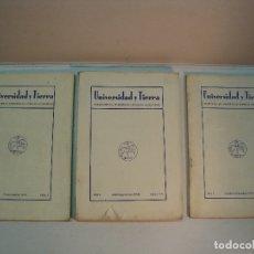 Libros antiguos: UNIVERSIDAD Y TIERRA. BOLETÍN DE LA UNIVERSIDAD POPULAR SEGOVIANA. Nº 1,2,3 Y 4 (1934). Lote 105080487
