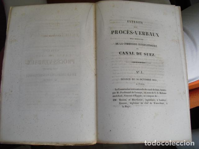 Libros antiguos: 1856 PERCEMENT DE L´ISTHME DE SUEZ INFORME Y PROYECTO FERDINAND DE LESSEPS - Foto 2 - 129708935