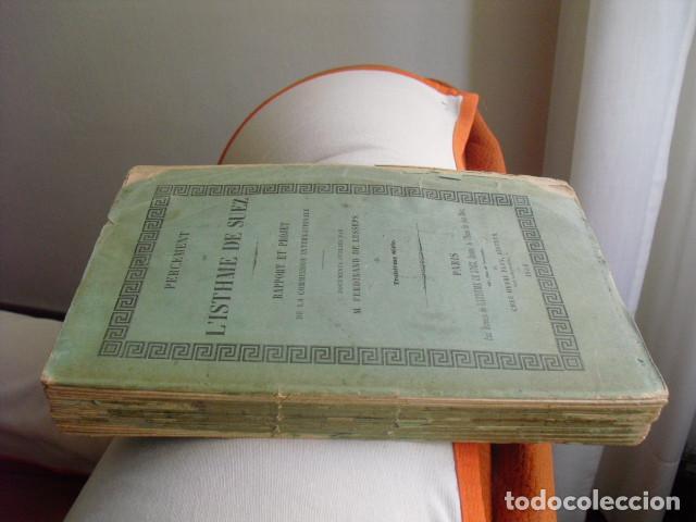 Libros antiguos: 1856 PERCEMENT DE L´ISTHME DE SUEZ INFORME Y PROYECTO FERDINAND DE LESSEPS - Foto 3 - 129708935