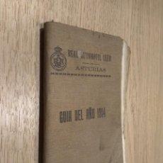 Libros antiguos: REAL AUTOMOVIL CLUB DE ASTURIAS. GUÍA DEL AÑO 1914. Lote 129774607