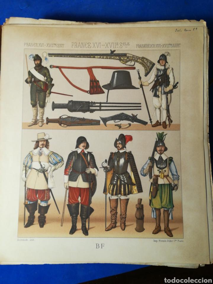 Alte Bücher: Le Costume Historique-Tomo 5-Albert Racinet,1888-Historia del vestido(francés)(99/100 láminas) - Foto 6 - 130019687