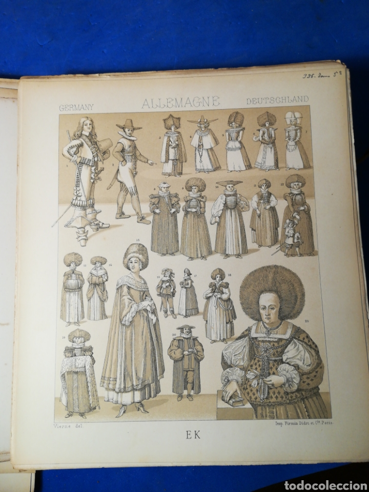 Alte Bücher: Le Costume Historique-Tomo 5-Albert Racinet,1888-Historia del vestido(francés)(99/100 láminas) - Foto 11 - 130019687