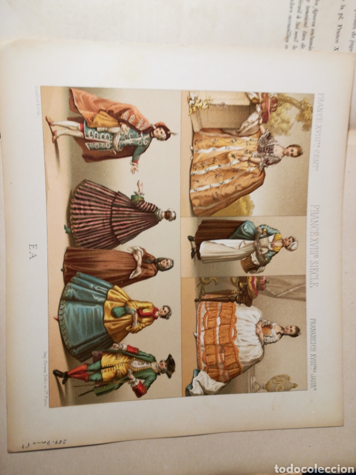 Alte Bücher: Le Costume Historique-Tomo 5-Albert Racinet,1888-Historia del vestido(francés)(99/100 láminas) - Foto 12 - 130019687
