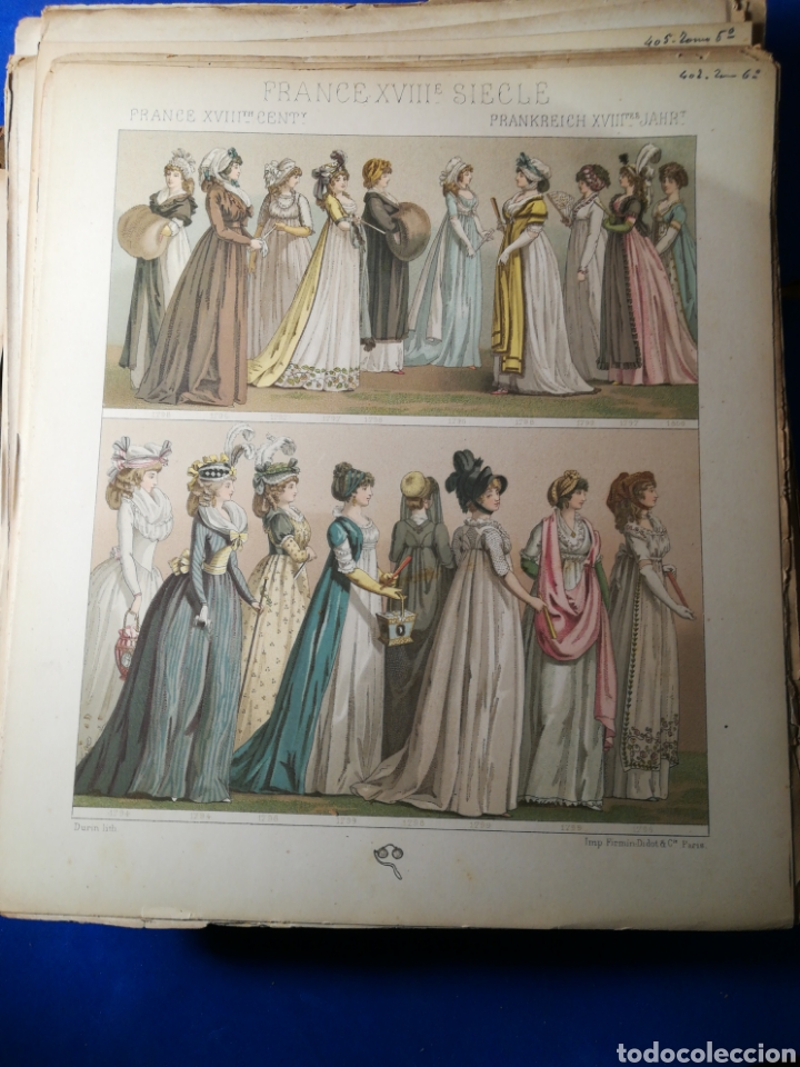 Alte Bücher: Le Costume Historique-Tomo 6-Albert Racinet,1888-Historia del vestido(francés)(89/100 láminas) - Foto 4 - 130020003