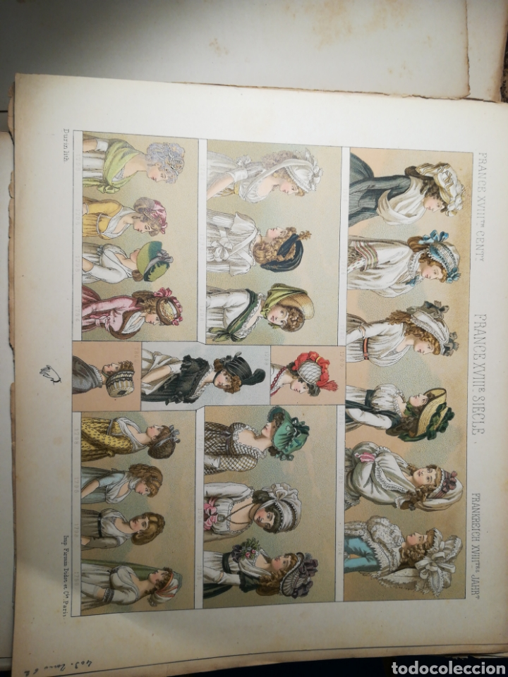 Alte Bücher: Le Costume Historique-Tomo 6-Albert Racinet,1888-Historia del vestido(francés)(89/100 láminas) - Foto 5 - 130020003