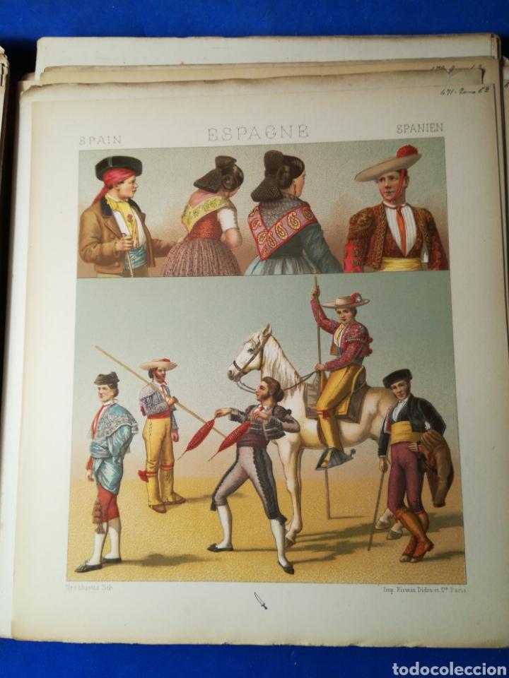 Alte Bücher: Le Costume Historique-Tomo 6-Albert Racinet,1888-Historia del vestido(francés)(89/100 láminas) - Foto 8 - 130020003