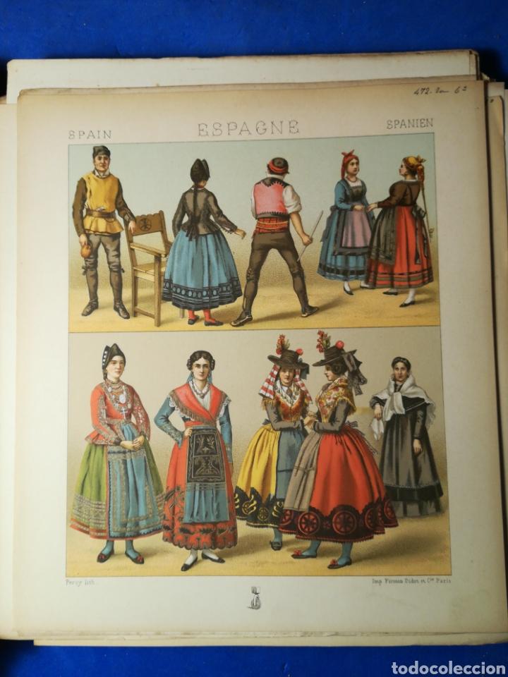 Alte Bücher: Le Costume Historique-Tomo 6-Albert Racinet,1888-Historia del vestido(francés)(89/100 láminas) - Foto 10 - 130020003