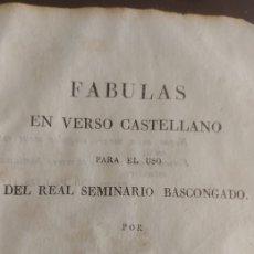 Libros antiguos: FABULAS EN VERSO CASTELLANO FELIX MARIA DE SAMANIEGO PERGAMINO. Lote 130028702