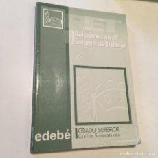 Libros antiguos: RELACIONES EN EL ENTORNO DEL TRABAJO. Lote 130070023
