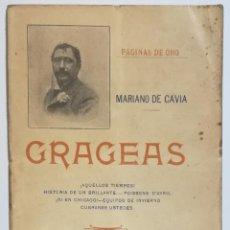 Livros antigos: GRAGEAS, MARIANO DE CAVIA, 1901.. Lote 130149923
