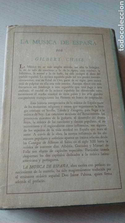 Libros antiguos: LA MÚSICA DE ESPAÑA - Foto 2 - 130155855