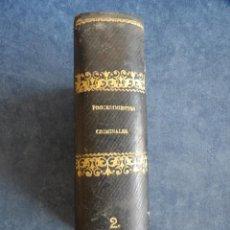 Libros antiguos: PROCEDIMIENTOS CRIMINALES. Lote 130591378
